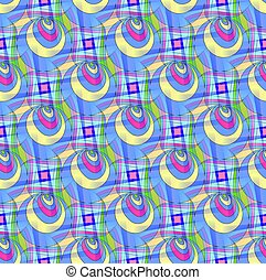 Seamless Pattern in a bright translucent colors