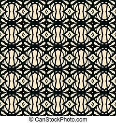 Seamless pattern in art deco style - Hand drawn folk ethnic...
