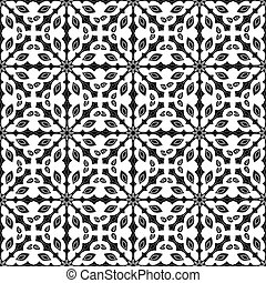 seamless pattern in black and white