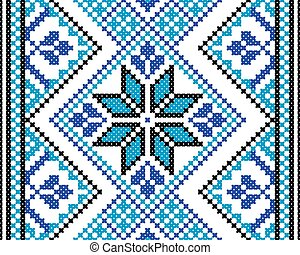 Seamless pattern in blue