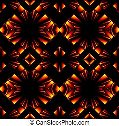 seamless pattern in colors of fire