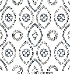 Seamless pattern in ethnic style. Geometric texture.