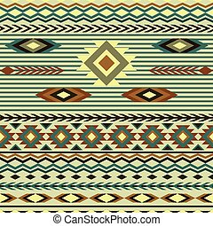 seamless pattern in ethnic style of
