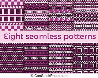 Seamless pattern in ethnic style. Tribal seamless texture, style hippie. Boho stripes. Vector illustration