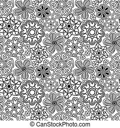 Seamless pattern in Indian style. Ethnic ornament with...
