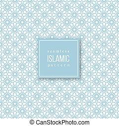 Seamless pattern in islamic style.