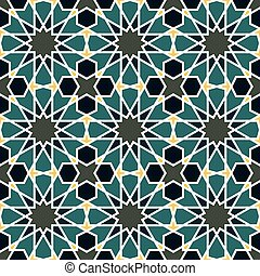 Seamless pattern in Moroccan style