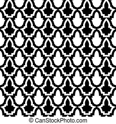 Seamless Pattern in Mosaic Ethnic Style. - Decorative...
