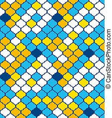 Seamless pattern in oriental style. Bright colors.