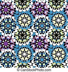 Seamless pattern in oriental style colorful ornamental background with mandala elements Islam Arabic Asian motifs