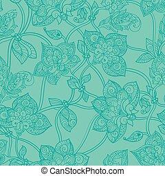 Seamless pattern in pastel green tones