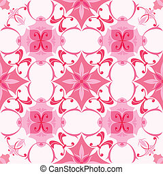 Seamless pattern in pink colors