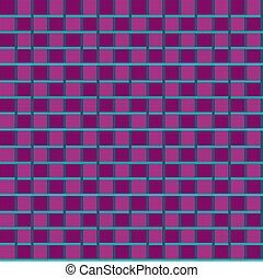 Seamless pattern in purple and blue tones. Geometric mosaic. Vector