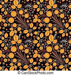 Seamless pattern in slavic folk style