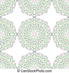Seamless pattern in the plant design.
