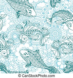 Seamless pattern in the style of me