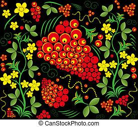 Seamless pattern. Khokhloma