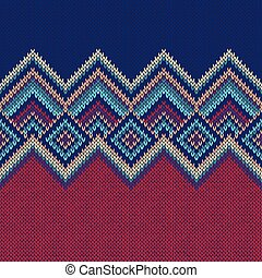 Seamless Pattern. Knit Woolen Ornament Texture