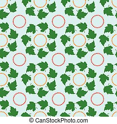 Seamless pattern, leaves in a circle, texture fractal on a...