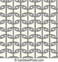Seamless pattern like paper scrolls