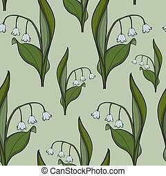 Seamless pattern Lily of the valley