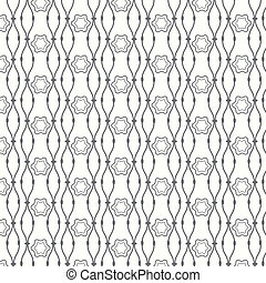 Seamless pattern lines with curve vector background