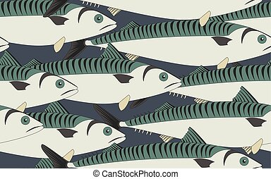 Seamless pattern mackerel close up