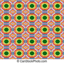 Seamless pattern made from colorful mosaic tile