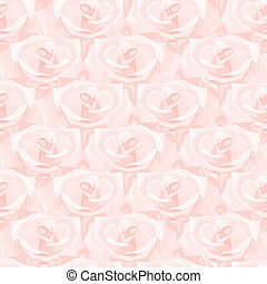 Seamless pattern made from pink roses