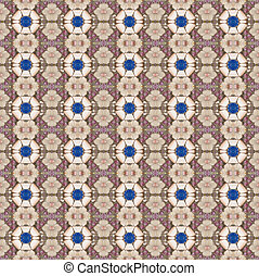 Seamless pattern made from purple, blue and brown stone