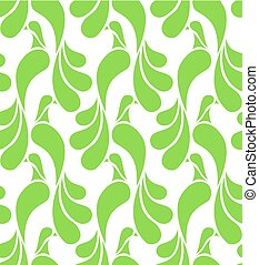Seamless pattern made of abstract green birds