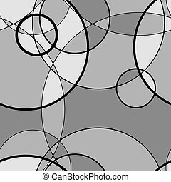 Seamless pattern made of circle, vector background