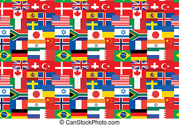 pattern made of flags