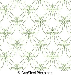 Seamless pattern made of mosquitos