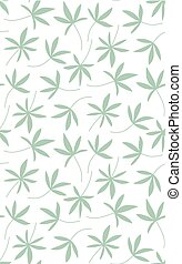 Seamless pattern made of palm leaves on white background