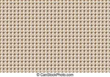 Seamless pattern made of pearls