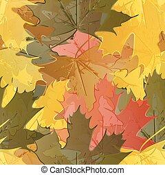 Seamless pattern maple leaves autum