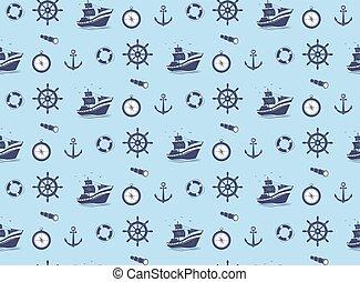 seamless pattern - marine theme