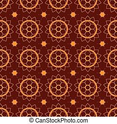 Seamless pattern mehendi  brown