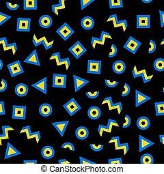 Seamless pattern memphis