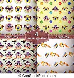 seamless pattern monkey