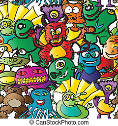 seamless pattern monsters