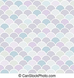 seamless pattern Moroccan style, colorful fish scale background vector