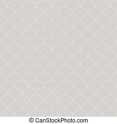 seamless pattern Moroccan style, thin line fish scale background