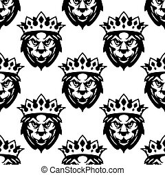 Seamless pattern of a Royal lion