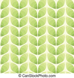 Seamless pattern of abstract leaves. Vector illustration background