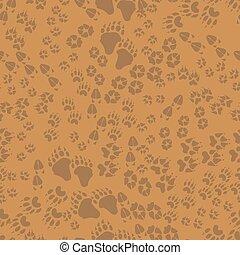 Seamless pattern of animal trails