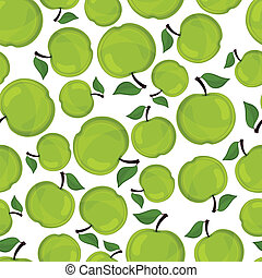 Seamless pattern of apples, vector illustration.
