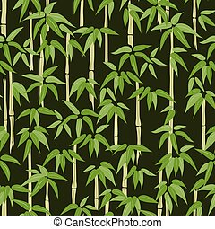 Seamless pattern of bamboo forest