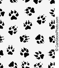 prints of dog paw